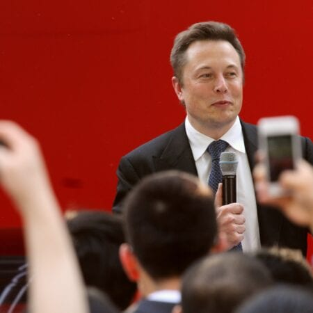 Elon Musk, CEO of Tesla Motors Inc., speaks during a delivery ceremony for Tesla Model S sedan in Beijing, China, 22 April 2014. Tesla Motors Inc. began deliveries of the Model S sedan in China as Chief Executive Officer Elon Musk tested the reluctance of consumers in the worlds largest auto market to buy electric cars. The billionaire chairman hosted an event on Tuesday (22 April 2014) to mark the occasion, according to the Palo Alto, California-based company. The electric-car maker has been taking orders since August and opened an 800-square-meter (8,600 square feet) store in a Beijing shopping mall late last year to showcase its vehicles.