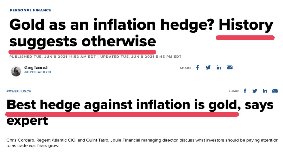 gold inflation hedge headlines
